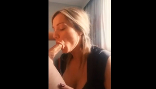 Sucking a young cock with a massive facial