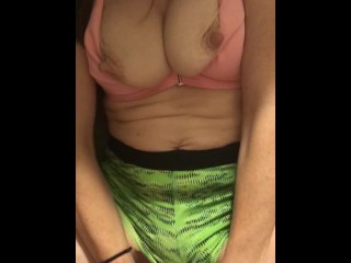 POV Sexy girl with nice tits from great angle
