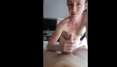 18yo brunette gives blowjob and anal fucks on hotel room