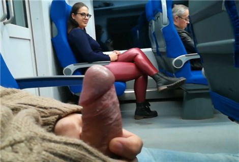Horny passenger gets handjob and blowjob from unknown girl in the train