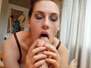Young Innocent Girl With SpaceBuns Sucks Dick